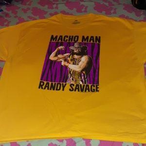 Macho Man Randy Savage T-Shirt Yellow XXXL